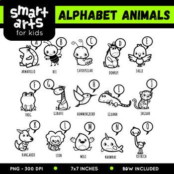 Alphabet Animals Clip Art