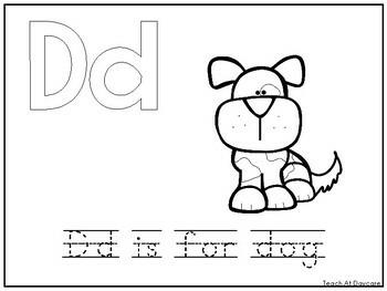 Alphabet Animal Phonics Color and Trace Worksheets. Preschool-KDG Phonics.
