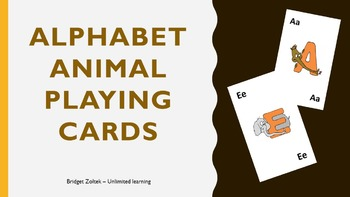 Alphabet Animal Playing Cards