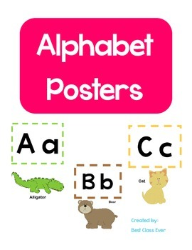 Alphabet Animal Posters