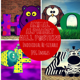 Alphabet Animal Posters Clip Art Images