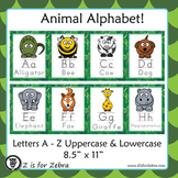 Alphabet Letter Animal Posters A - Z
