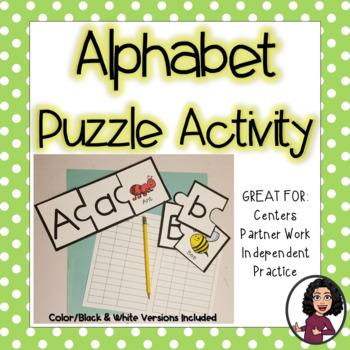 Alphabet Animal Puzzle Activity!