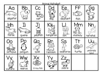 Animal Alphabet FREE