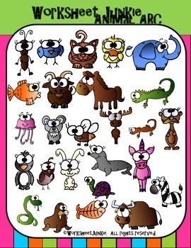Alphabet Animals Clipart
