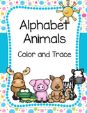 Alphabet Animals - Coloring and Tracing Pages