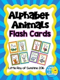 Alphabet Animals Flash Cards Back to School