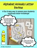 Alphabet Animals Letter Review- Dabber/Dot Sheets