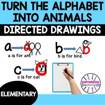 DIRECTED DRAWING turn the ABCs into the same letter animal! prek12345