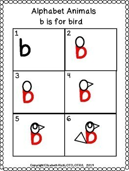 DIRECTED DRAWING turn the ABCs into the same letter animal / object! prek12345