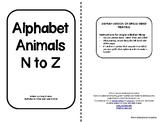 Alphabet Animals N-Z-single-sided