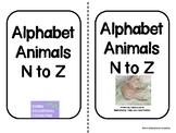Alphabet Animals N-Z-two-sided