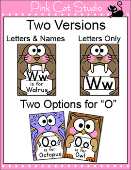 Animals Alphabet Posters, Flash Cards, Coloring Pages, Playing Cards