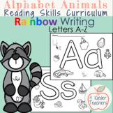 Rainbow Writing Letters A-Z Alphabet Animals