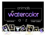 Alphabet Animals in Watercolors : 3 Part Cards