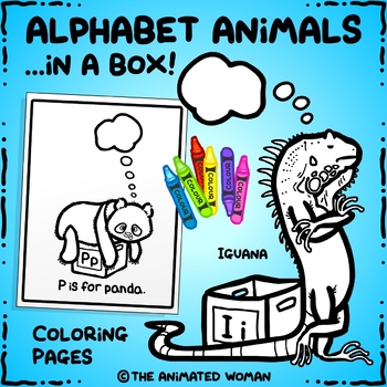 Alphabet Animals in a BOX - Coloring Book