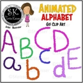 Alphabet Animated Clip Art, Spanish accents, GIF Graphics,