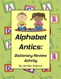 Alphabet Antics: Dictionary Skills Review