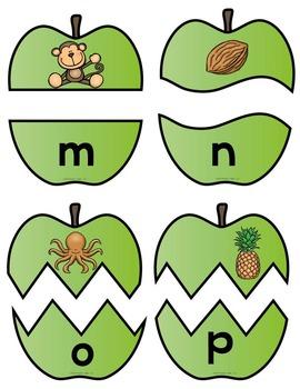 Alphabet Apple Puzzles