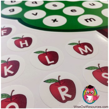 Alphabet Apple Tree Restickable Poster Matching Activity