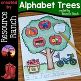 Alphabet Worksheets with Apple Trees