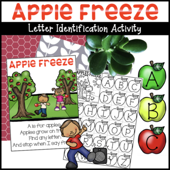Alphabet Apples Cards / A is for Apples Freeze Game