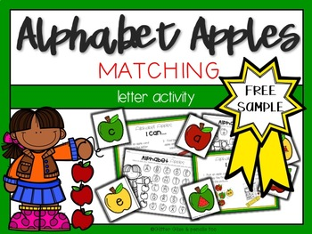 Alphabet Apples Literacy Center FREE SAMPLE