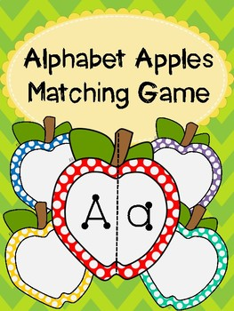Alphabet Apples Matching Game