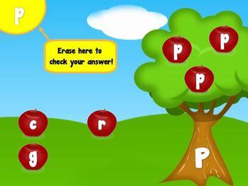 Alphabet Apples Matching Game (Smartboard/Promethean Board)