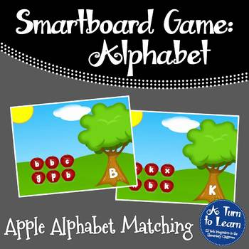 Alphabet Apples Matching Game for Smartboard or Promethean Board!