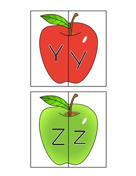 Alphabet Apples - Matching Letters