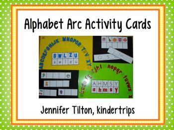 Alphabet Arc Activity Cards