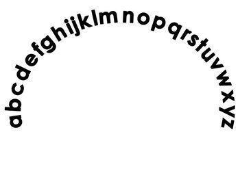 Alphabet Arc Set--Upper Case and Lower Case Mats by Teach ...