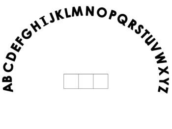 Alphabet Arc Set With Elkonin Boxes