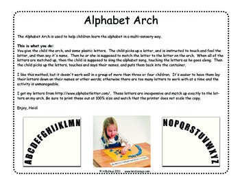 Alphabet Arch