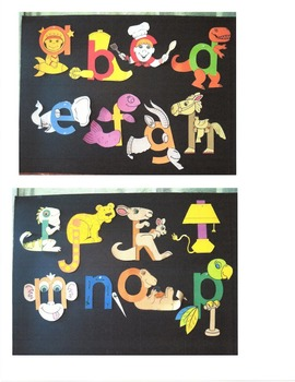 Alphabet Art Lower Case Beginning Sounds