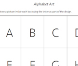 Alphabet Art - Making Art with Letters