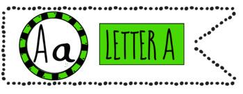 Alphabet Art - clip art for teachers - the letter A