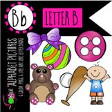 Alphabet Art - clip art for teachers - the letter B