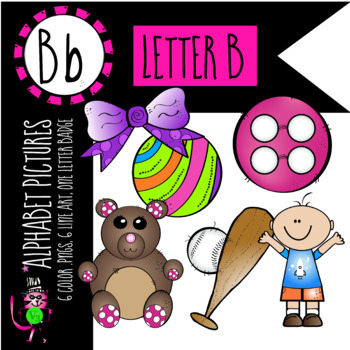 Alphabet Art - clip art for teachers - the letter B