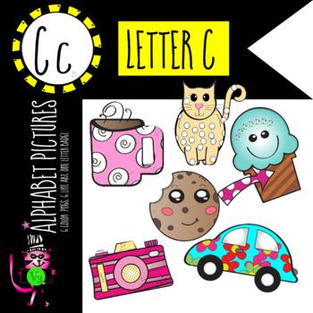 Alphabet Art - clip art for teachers - the letter C