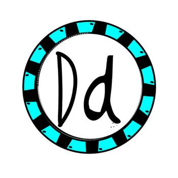 Alphabet Art - clip art for teachers - the letter D