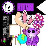 Alphabet Art - clip art for teachers - the letter E
