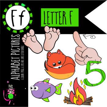 Alphabet Art - clip art for teachers - the letter F