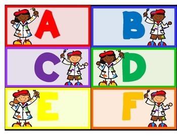 Alphabet Artist--Capital and Lowercase Matching & Writing for PK-1