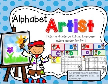 Alphabet Artist--Capital and Lowercase Matching & Writing