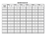 Alphabet Assessment: Group Tracking- Editable Form