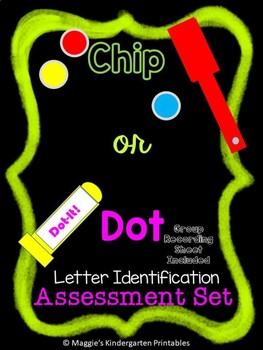 Alphabet Assessment Magnetic Chip or Dauber Dot Activity