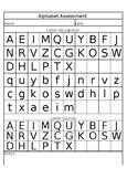 Alphabet Assessment Sheet