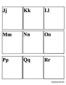 Alphabet Assessment/Alphabet Cut and Paste Activity